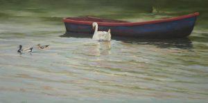 Boot mit Schwan
